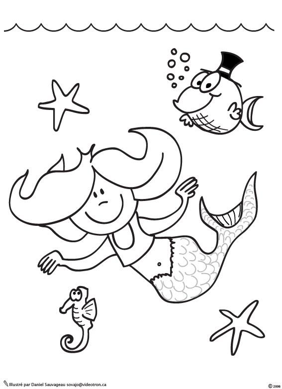 Tous les dessin de sirene - Coloriages sirenes ...